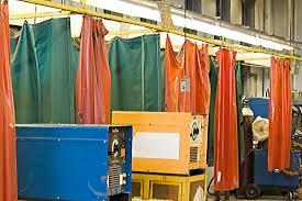 industrial curtain walls vinyl dividers u0026 partition curtains