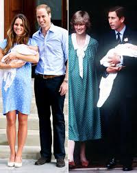 kate middleton princess diana baby debuts duchess in lookalike