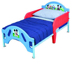 Metal Toddler Bed Safe Lightweight Disney Mickey Mouse Metal Plastic Frame Baby