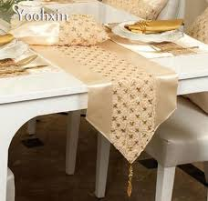 gold table runner and placemats modern gold sequin bed table runner cover flag mantel nappe satin
