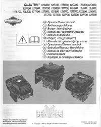 briggs u0026 stratton engine quamtum 12a800 12b700 127700 127800