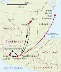 Antigua Map Guatemala Private Journey Itinerary U0026 Map Wilderness Travel