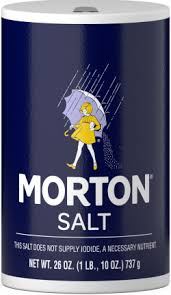 sea salt equivalent to table salt morton table salt morton salt