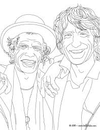 mick jagger and keith richard coloring pages hellokids com