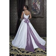 Purple Wedding Dress Sweetheart Wedding Dress With Purple Sweetheart Neckline White