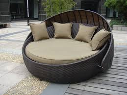 indoor office home resin wicker daybed with aluminium frame