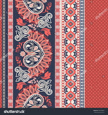 floral seamless pattern ethnic border ornament stock vector