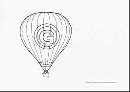 amazing air balloon coloring page printable with balloon