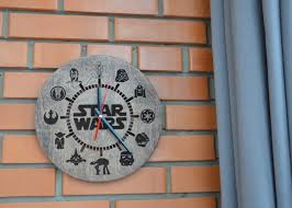 Star Wars Home Decorations by Star Wars Gift Wall Clock Wood Darth Vader Custom Engraved