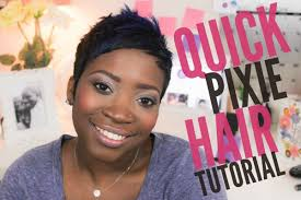 styling of freezing african hair quick pixie hair tutorial youtube