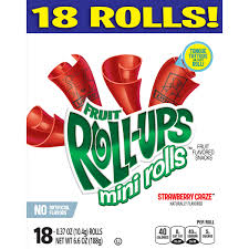 Betty Crocker Halloween Fruit Snacks Fruit Roll Ups Mini Rolls Strawberry Craze Fruit Flavored Snacks