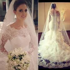 amazing long sleeve lace 2017 wedding dress mermaid organza 2018