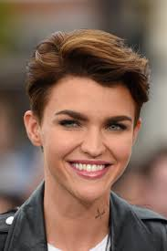 ruby rose long and short hair beauty and makeup looks tattoos