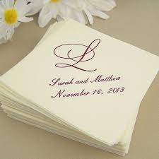 personalized wedding napkins napkins linen look cocktail personalized my wedding reception
