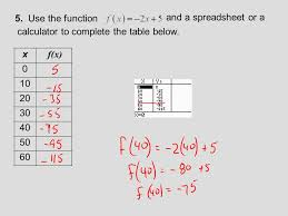 complete the table calculator section 2 2 function notation and linear functions ppt download