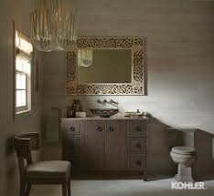 smoky travertine bathroom kohler