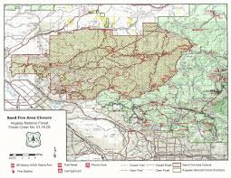Los Angeles Crime Map by Officials Close Portion Of Angeles National Forest Affected By
