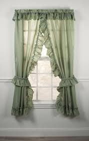 Criss Cross Curtains Stacey One Rod Criss Cross Ruffled Priscilla Window Curtains With