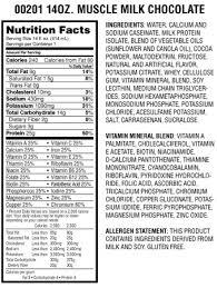 muscle milk light bars what s in muscle milk fooducate