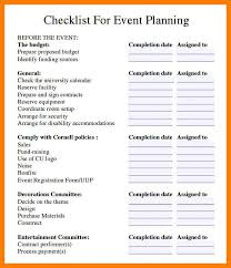 event planning checklist template free resume letter