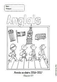 Page de garde cahier danglais  CPCE1CE2CM1CM2  Fée des écoles