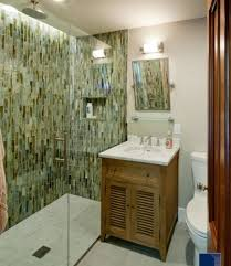 small bathroom design idea small bathroom with marble vanity shower room and green wall tiles