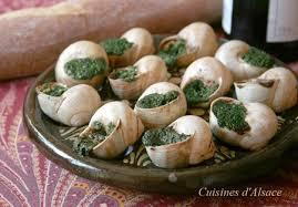 cuisine d alsace recette d alsace escargots à l ail des ours et aux noisettes