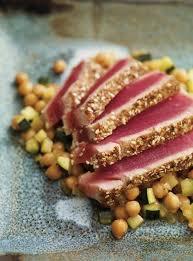 comment cuisiner le thon thon en croûte d épices ricardo