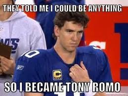 eli manning pulls a romo against tony romo led cowboys nfl