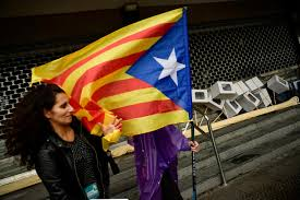 the latest protesters rally against catalan independence world