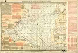 Ocean Lakes Map Geogarage Blog Guiding Charles Lindbergh Over The Atlantic
