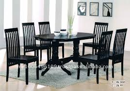 black dining table chairs selecting designer dining table and chair set blogbeen