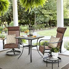 Outdoor Furniture Small Space Jaclyn Smith Marion 3 Piece Bistro Set Limited Availability