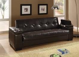 montego sofa coaster montego convertible leather sofa in brown dealbeds
