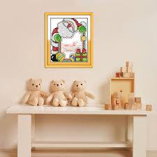 christmas photo frame diy painting figure patterns handmade craft