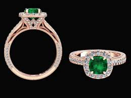 rose style rings images 1 20 carat emerald and natural diamond victorian style ring style jpg