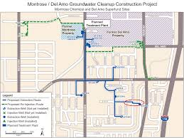 montrose del amo groundwater cleanup construction project