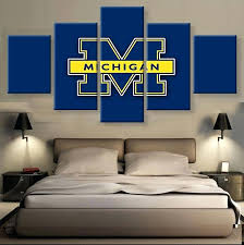 Michigan Wall Decals As Well As Buy 5 Pieces Wolverines Paintings