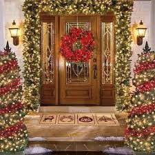Christmas Decorations For Outside Door by Exterior Hanging Ornamental Shine Front Door Wreaths For