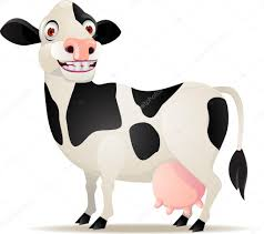 smiling cow cartoon u2014 stock vector dagadu 7871771