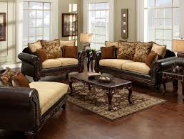 Rustic Leather Living Room Furniture Living Room