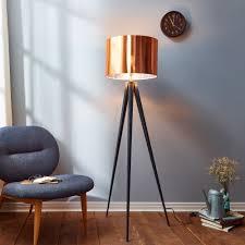 Tripod Floor Lamps Teamson Versanora Romanza Tripod Floor Lamp With Copper Shade