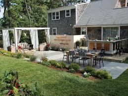 backyard inspiration backyard makeover on sloped backyard