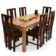 Six Seater Dining Table And Chairs Gresham Capra 6 Seater Dining Table Set Lock And Pull