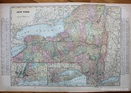 Long Island New York Map by New York Verso Map Of Long Island New York And Maryland And