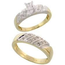 wedding ring set for him and his hers rings