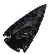 black obsidian arrowhead kennesaw cutlery