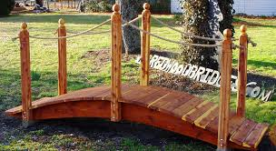 yard bridge garden bridges with rope