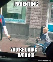 You Re Doing It Wrong Meme - parenting you re doing it wrong make a meme