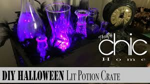 halloween decorations potion bottles diy halloween lit potion bottle crate youtube